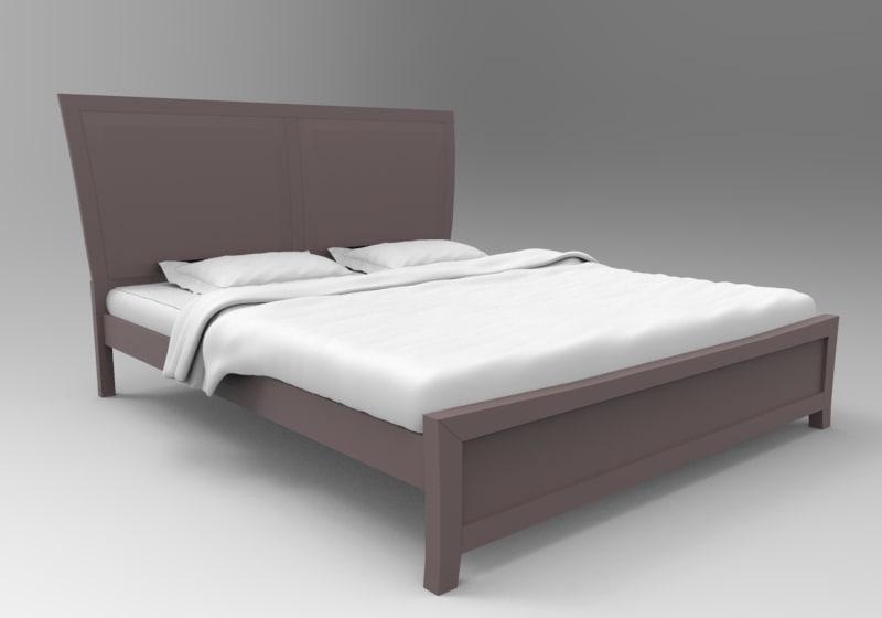 3D bed unreal unity model