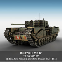 british churchill mk iv 3D