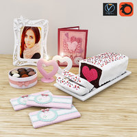 Valentine decor set