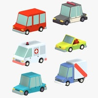 Low poly Car pack 3