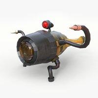 3D model concept submarine