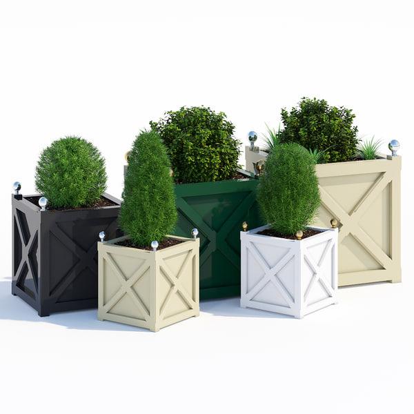 cross planters 3D model