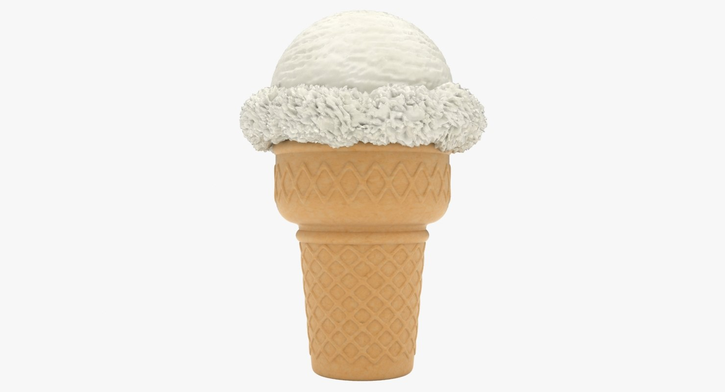 realistic ice cream cone 3D model