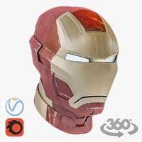 helmet iron man mark 3D