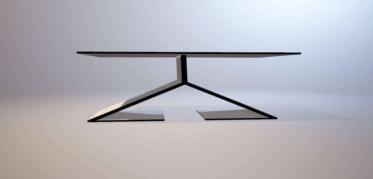 3D modern table set model