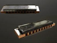 Harmonica 3D model