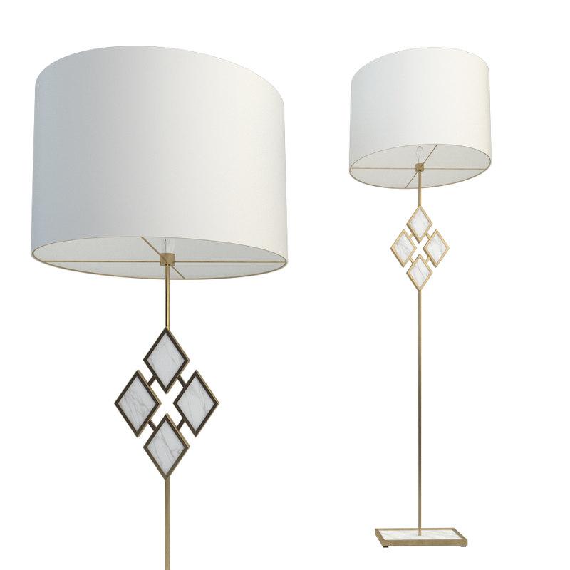 Robert Abbey Edward Floor Lamp 3D Model