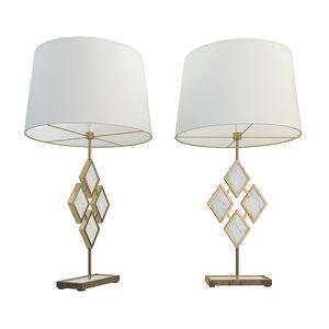 3D model robert abbey edward table lamp