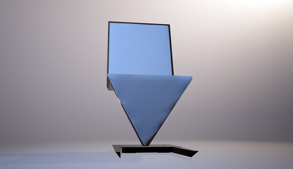 3D modern futuristic table chair