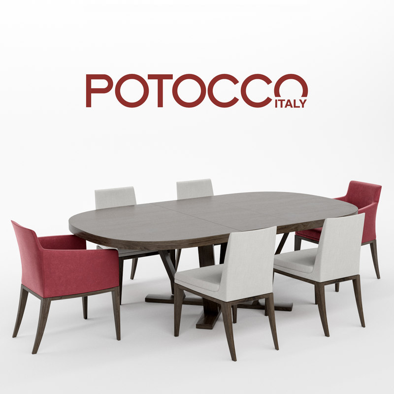 3D model potocco elide chair armchair