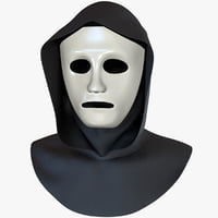 White Mask and Black Hood - PBR