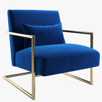 Armchair Kare Sessel Living Vegas Blue and Pink