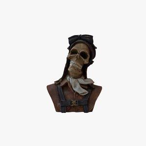 skull pilot model