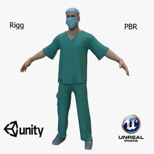 doctor surgeon 3D