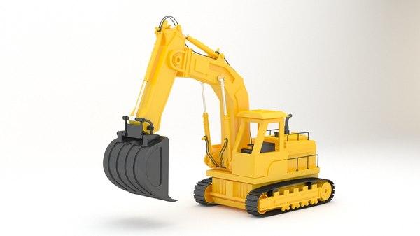 3D toy frontloader model