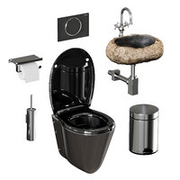 set sanitary ware accessories model