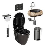 set sanitary ware accessories model