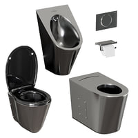 3D set sanitary ware accessories model