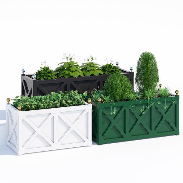 3D cross jardinieres