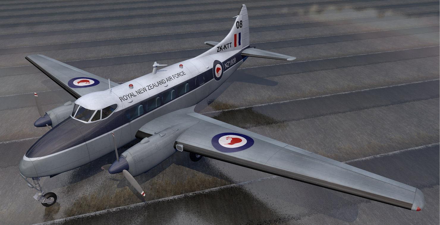3D plane dh-104 dove model