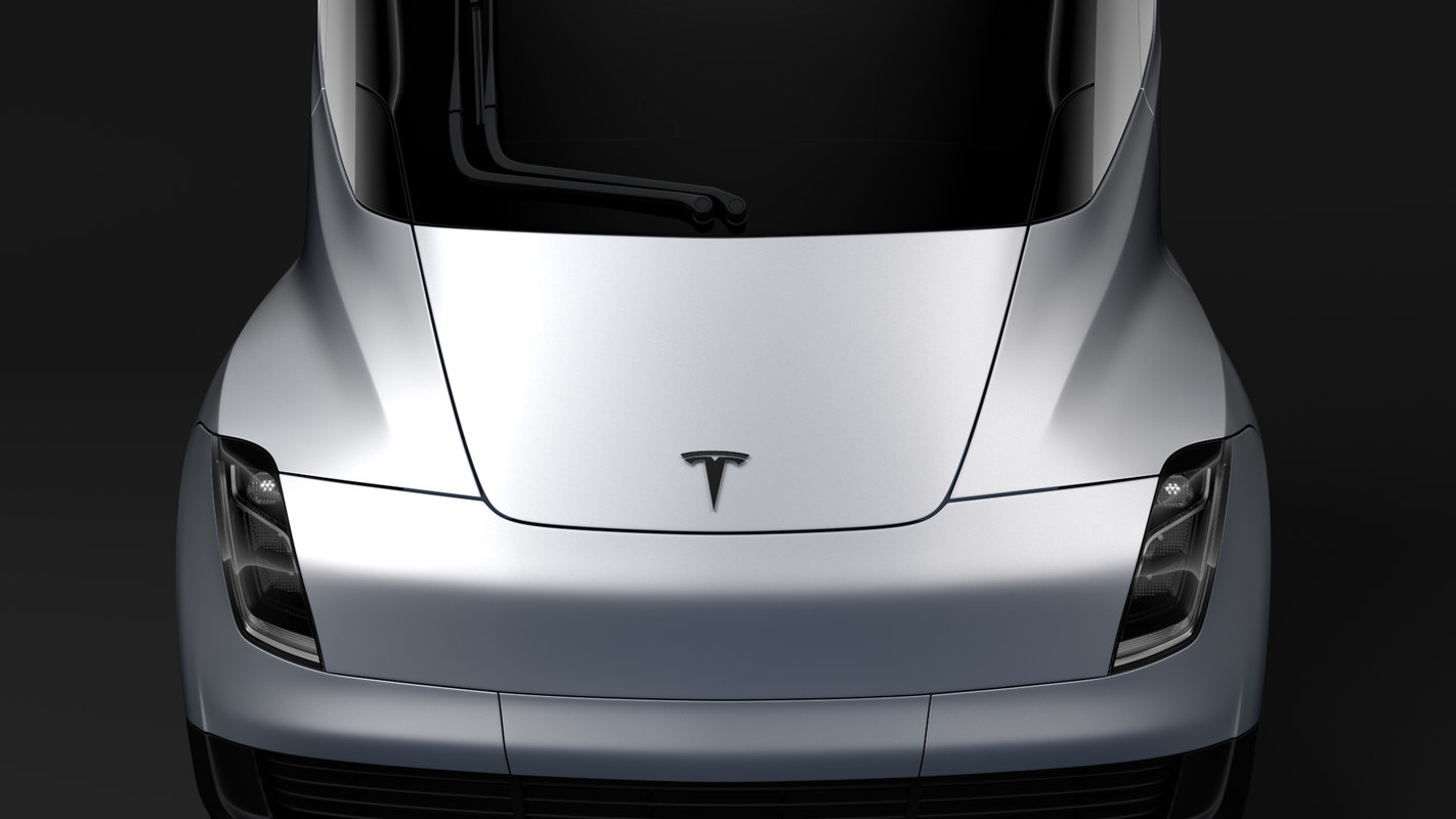 tesla semi 3axis 2018 3D model
