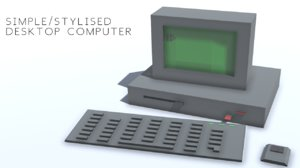3D simple computer stylized model