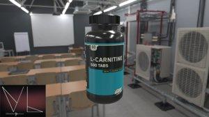 3D l-carnetine bottle