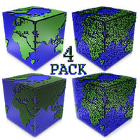 worlds cube pack 3D