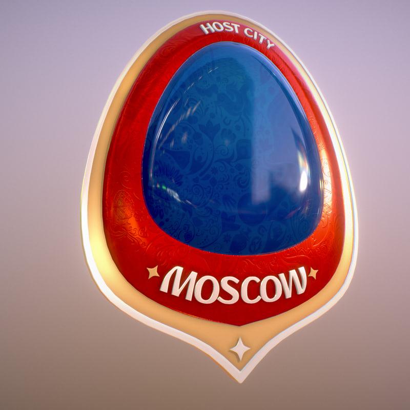 3D symbol russia 2018 host