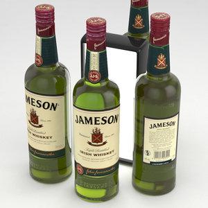 3D whiskey irish jameson