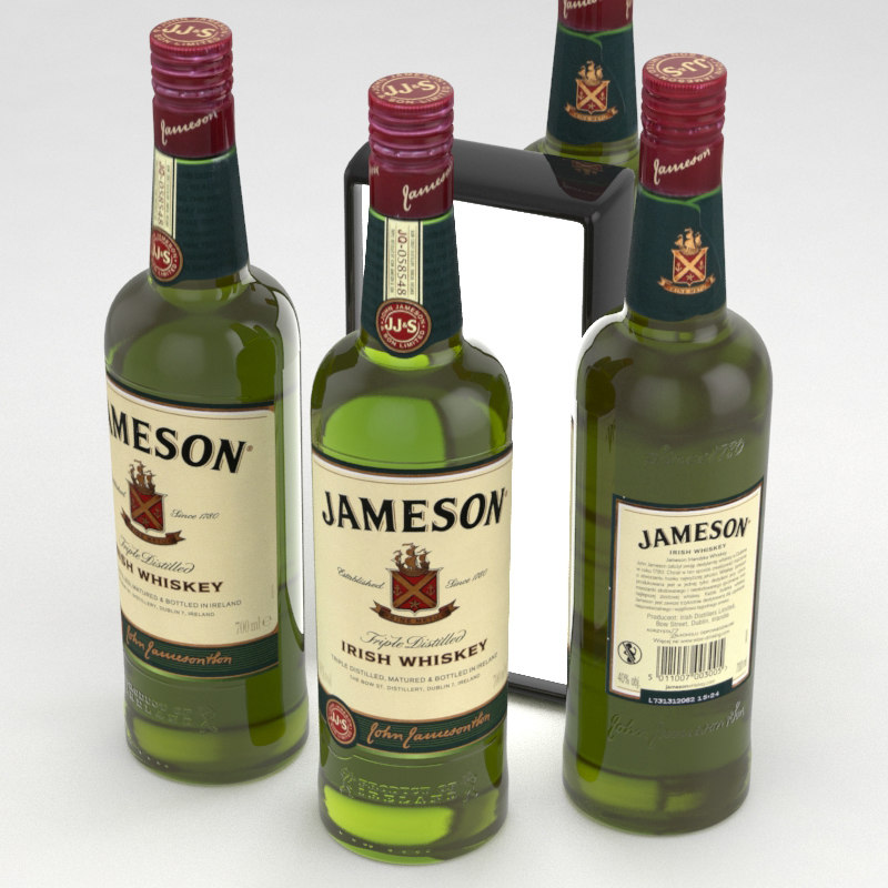 3D whiskey irish jameson