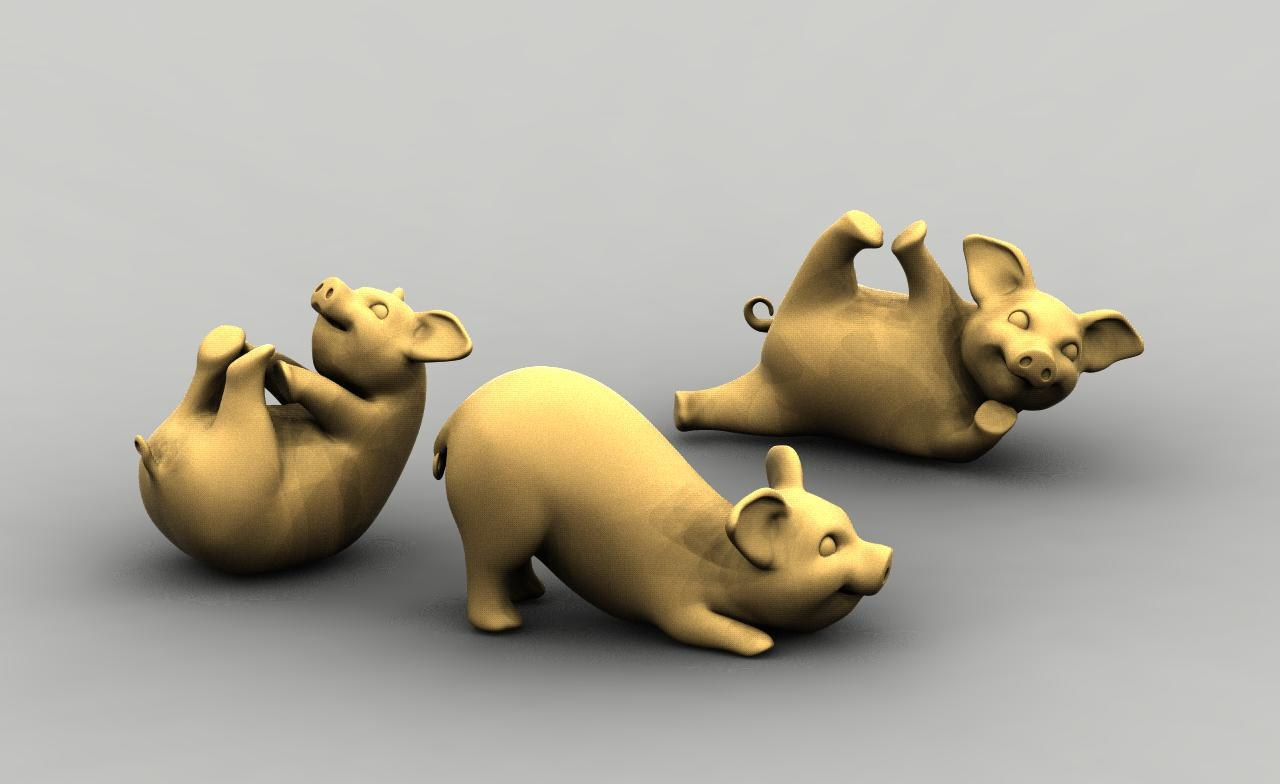 piglet pig 3D model