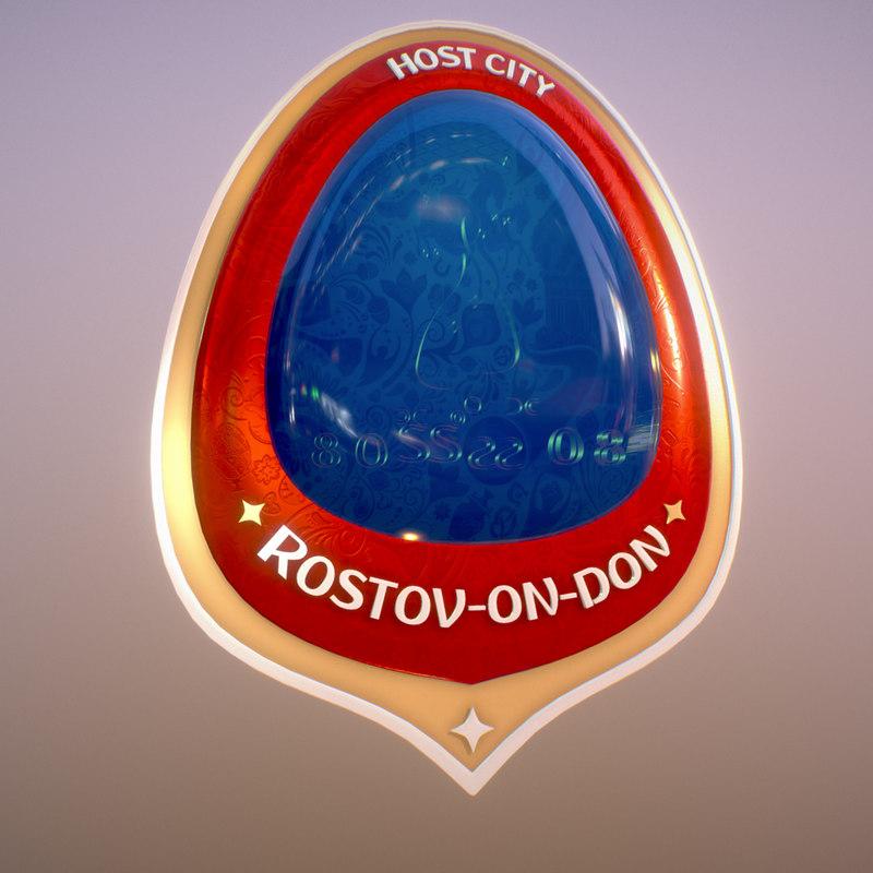 3D symbol russia 2018 host model