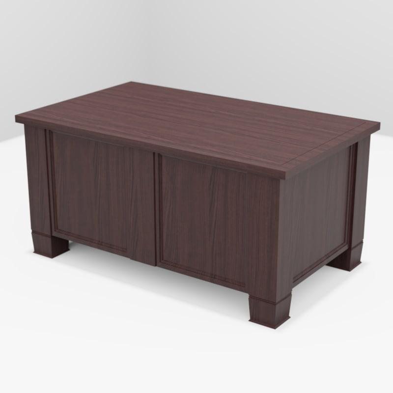 coffee table dark 3D