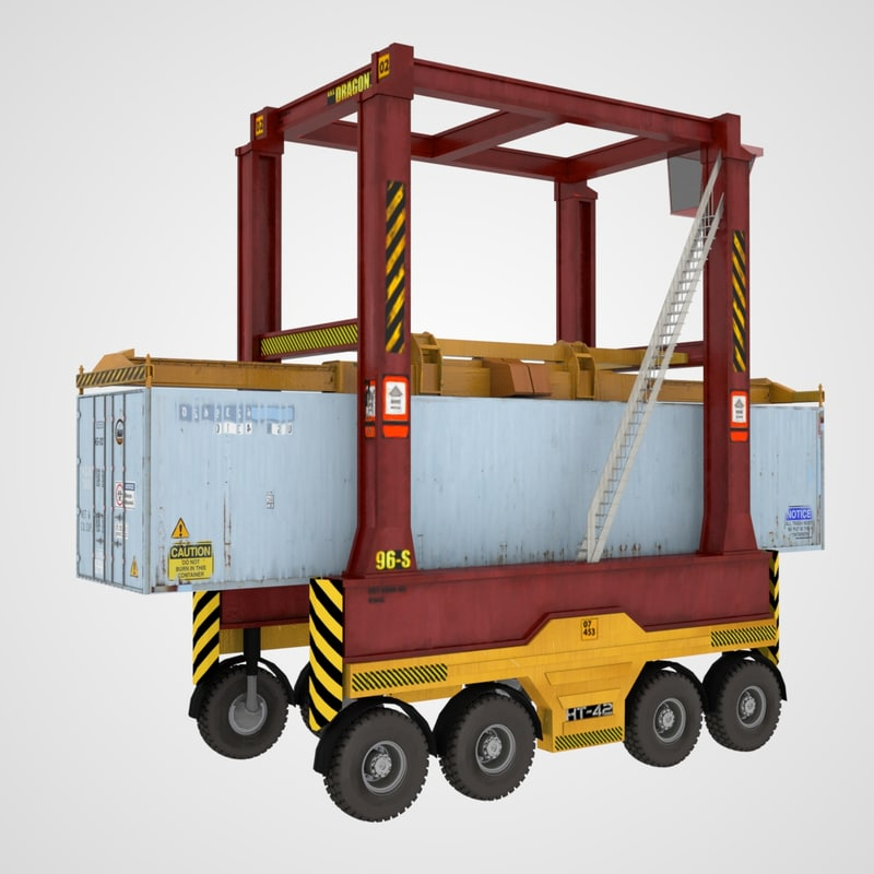 straddle carrier container 3D model