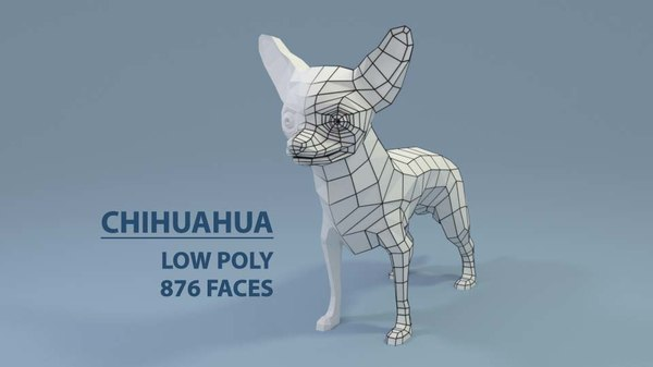 3D chihuahuas little dogs