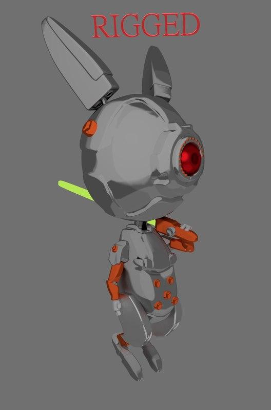 little bot bunny 3D