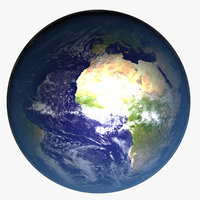 photorealistic planet earth 3D model