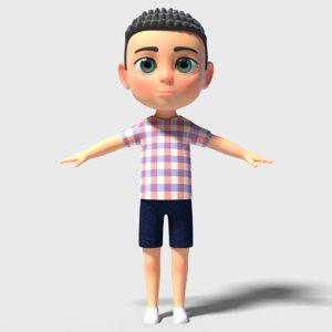 little cute boy 3D