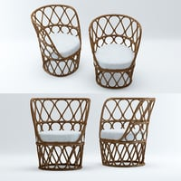 3D forma easy armchair model