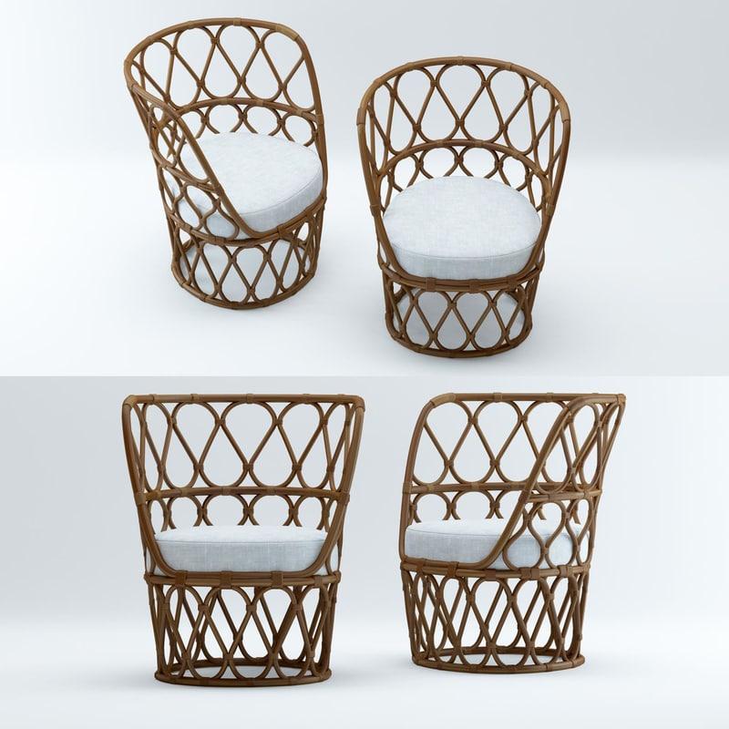 3D forma easy armchair model