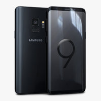 3D samsung galaxy s9 midnight model