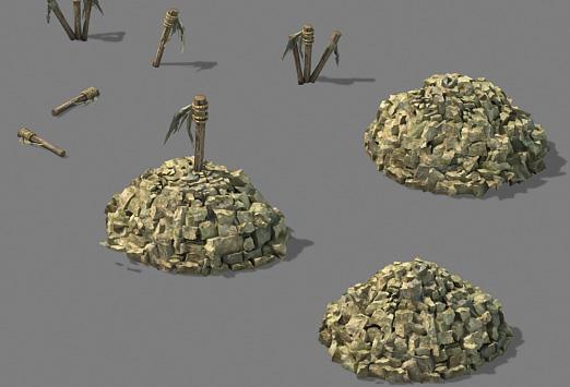 landscapes stone f 3D model