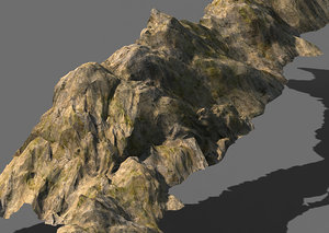 stone rock mountain 3D