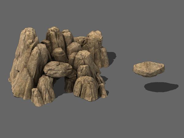 landscapes mountain 3D model