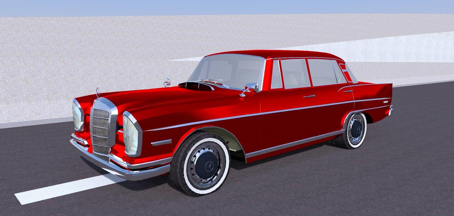 Vintage Mercedes Benz 300 Se 3D