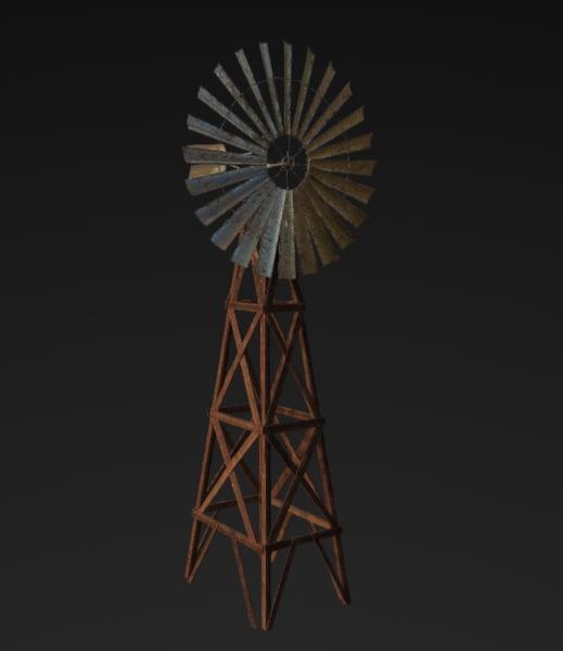 3D desert windmill