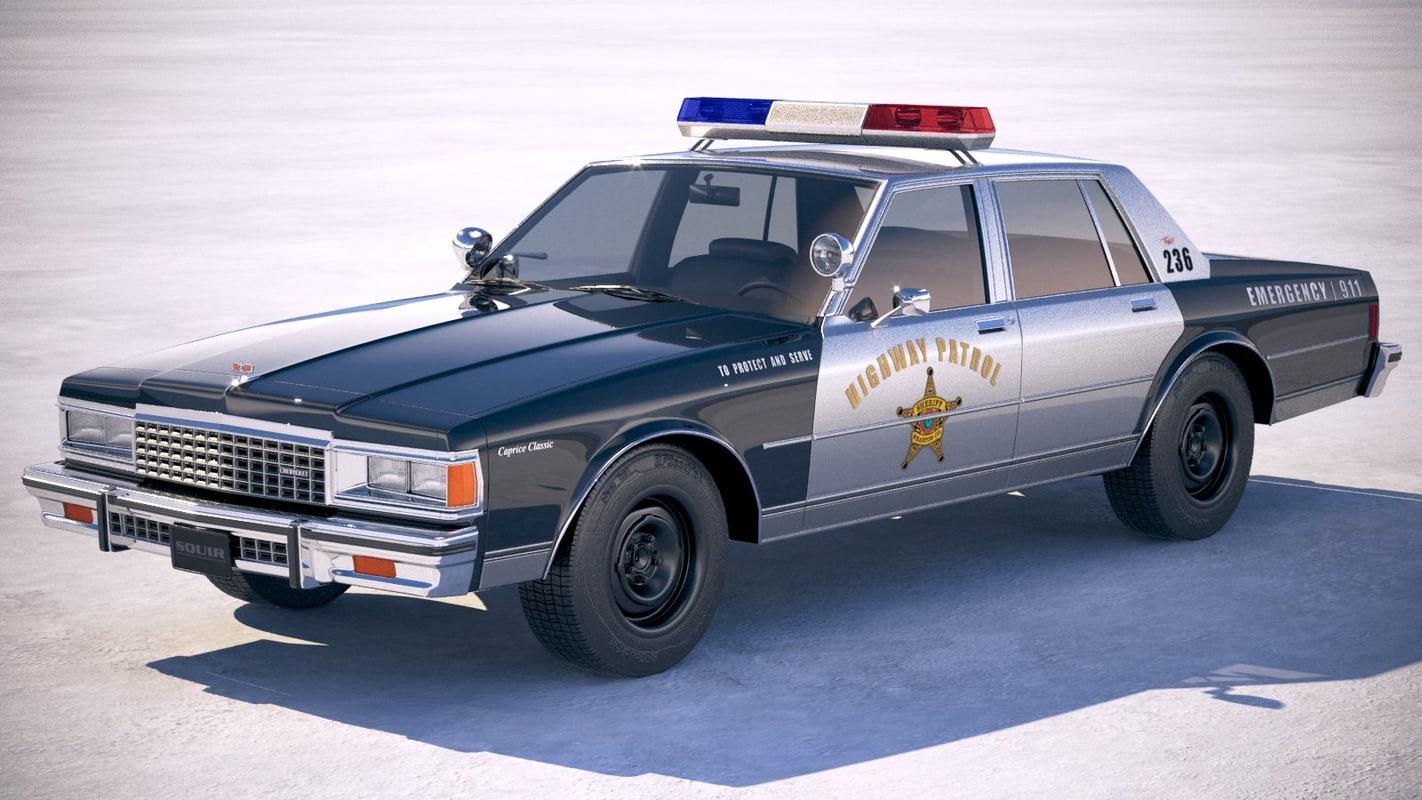Chevrolet Caprice Police Car 1978 Model