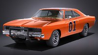 LowPoly Dodge Charger 1969 General Lee