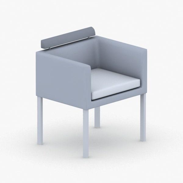 - armchair chair stool 3D model